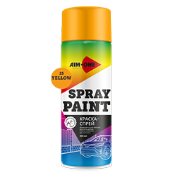 Spray paint yellow