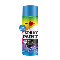 Spray paint blue