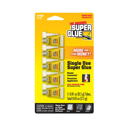 Super Glue 5-Pack Single Use Minis