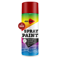 Spray paint red